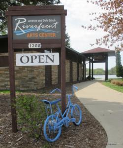 blue bike at RAC