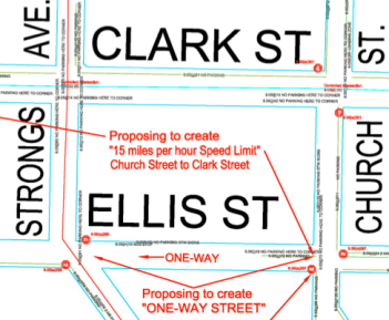 ellis one way map agenda