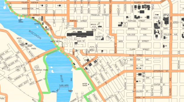 map city bike routes ellis
