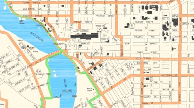 map city bike routes ellis