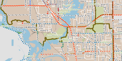 whiting bike_ped plan map